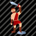 person, gladiator, business, ancient, computer, retro