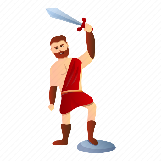 Person, gladiator, business, ancient, computer, retro icon - Download on Iconfinder