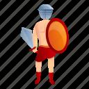 person, roman, gladiator, man, helmet, warrior