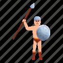 business, computer, gladiator, retro, spear