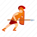 attack, gladiator, tattoo, woman