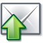 green, mail, send icon