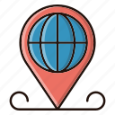 global, gps, location, map, pin icon