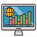 chart, global, management, monitor, report icon