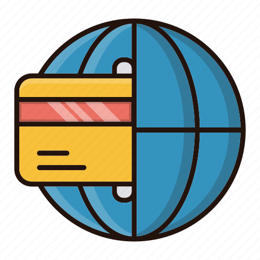 global, online, payment, transaction icon