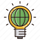 bulb, idea, ideas, international, lamp icon