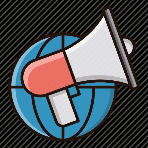 advertise, global, promotion, speaker icon