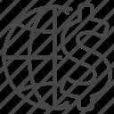 business, economy, financial, global, international, money, world icon