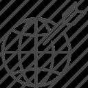 achievement, aim, business, global, international, target icon
