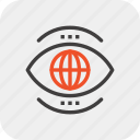 world, vision, global, view, watch, search, eye icon