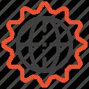 browser, cogwheel, design, development, gear, settings, web icon