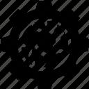 cogwheel, gear, global business, globe, network, settings, worldwide icon