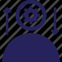idea, stimulation, generate idea, incentive, idea develop icon