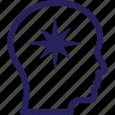 idea develop, brain, competitive intelligence, critical judgment, idea icon