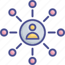 affiliate, network, people, people connection, social network icon