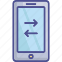 data sharing, data transfer, data transmission, mobile data icon