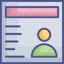 avatar, bio, person, profile, user icon