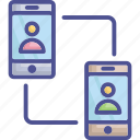communication, conference call, mobiles, video call, video conference icon