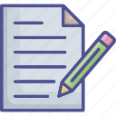 contract, document, office document, sheet, signing icon