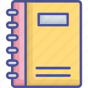 diary, memo book, notebook, notepad, writing pad icon