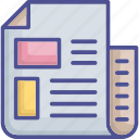 documents, documents strategy, file, sheet, word sheet icon