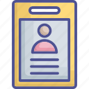 clipboard, cv, documents, profile, resume icon