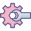 maintenance, repairing tools, settings, spanner, wrench icon