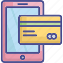 mobile payment, online transaction, credit card, transaction, banking icon