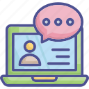 conversation, chat bubble, consultant, online consulting, chatting icon