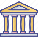 bank, bank building, banking, building, courthouse icon
