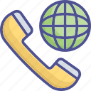 communication, conference, global conference, globe, receiver icon