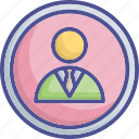 business person, businessman, manager, profile icon