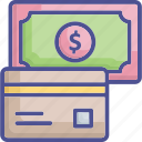 credit card, bank card, payment, transaction, currency icon