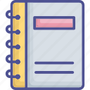 diary, memo book, notebook, notepad, notes icon