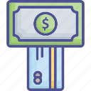 bank card, card payment, credit card, paper money, payment method icon