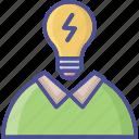 idea develop, brainstorming, bulb, creativity, idea icon