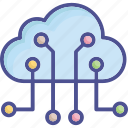 cloud computing, cloud connection, cloud network, network sharing, server cloud icon