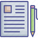 compose, paper, pen, text sheet, writing icon