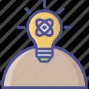 idea develop, personal solution, generate idea, idea, creativity icon