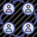 employees, group, team, team relationship, teamwork icon