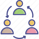 employees, group, relationship, team, teamwork icon