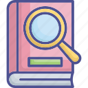 audit, document, education, open file, reference data icon