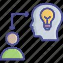 fetch, introduction, generate idea, convey, idea icon