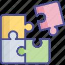 strategy, integration emotion, game, jigsaw piece, jigsaw puzzle icon