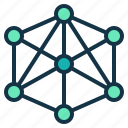 business, connection, network, relationship, system icon