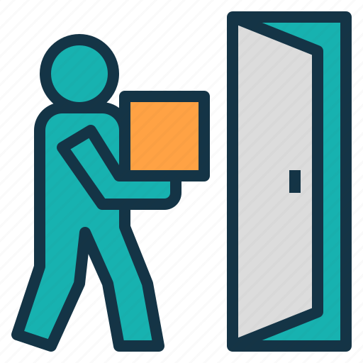 delivery, door, service, shipping, to, transport icon