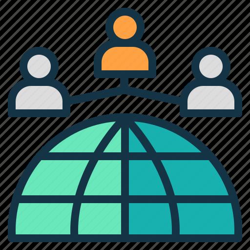 company, global, international, leadership, organization, world icon