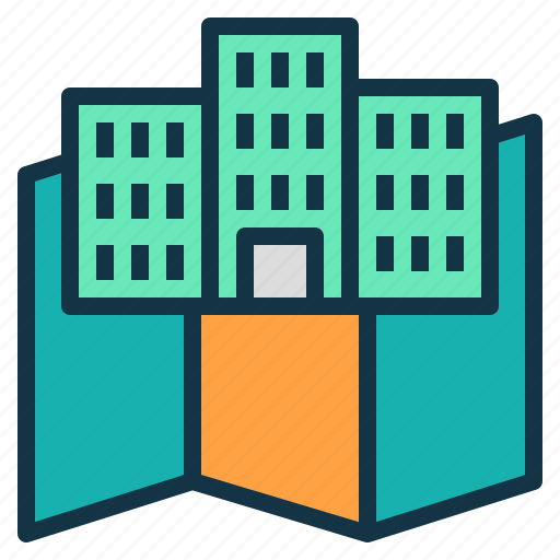 building, company, country, host, map, office icon