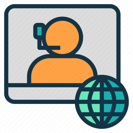 business, company, conference, meeting, online, participant icon