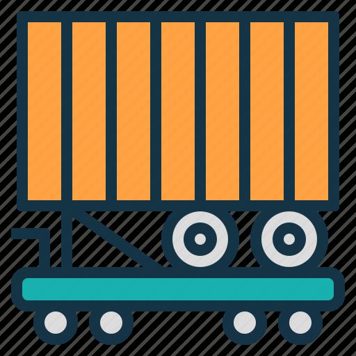 back, container, international, piggy, transportation, vehicle icon